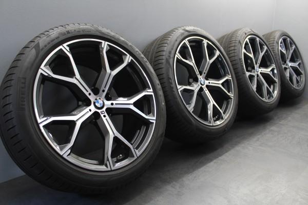 21 Zoll Original BMW M741 X5 X6 G05 G06 Sommerräder Pirelli 8071998 8071999