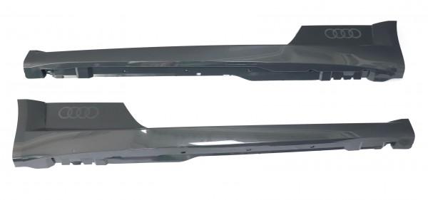 2x Original Audi TT 8S Seitenschweller Verkleidung Set links rechts X7M Nanograu