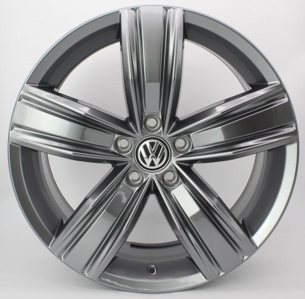 >TOP< 1x 19Zoll Original VW Tiguan II 2 Victoria Falls Alu-Felge 5NA601025Q