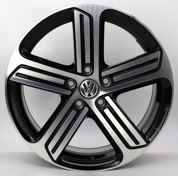 TOP 1x 18Zoll Original VW Golf 7 VII R Cadiz black Alufelge 5G0601025DQ