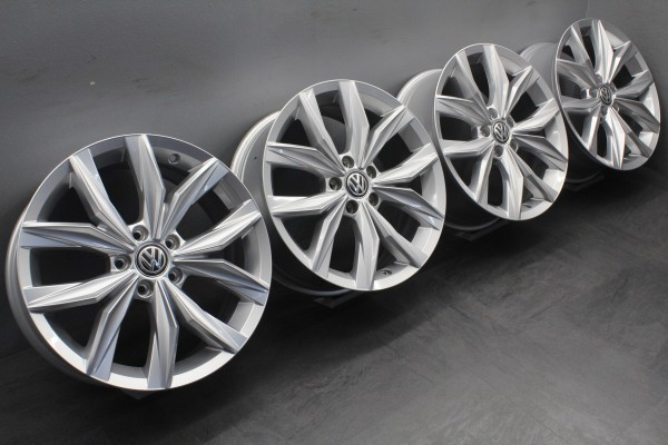 4x 18Zoll Original VW Tiguan II 2 5NA Kingston Alu-Felgen 5NA601025B
