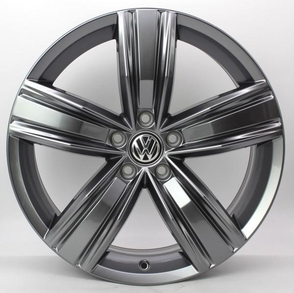 1x 19Zoll Original VW Tiguan II 2 Victoria Falls Alufelge 5NA601025Q