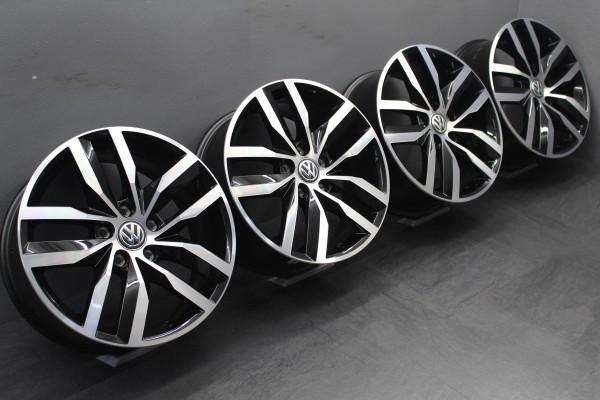>TOP< 4x 17Zoll Original VW Golf 7 VII Madrid schwarz Alu-Felgen 5G0601025BT